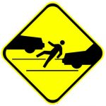 Pedestrian-accident-warning-sign
